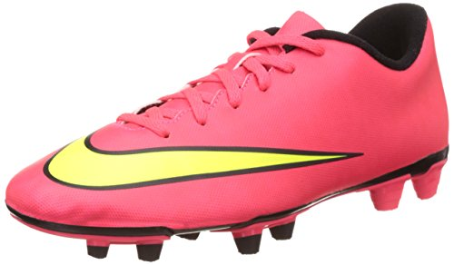 Nike Men's Mercurial Vortex FG II Soccer Cleat (9.5 D(M) US, Hyper Punch/black/volt/metallic Gold Coin)