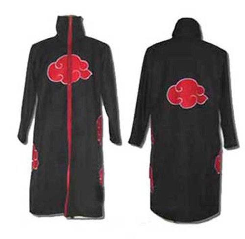 FANTASYCART Naruto Itachi Uchiha Deluxe Cosplay Costume Black (Size S) - Itachi Uchiha Deluxe Cosplay Costume
