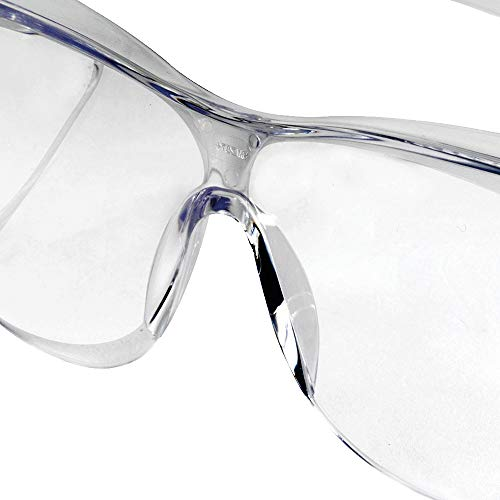 Sellstrom Lightweight, Over-The-Glass Safety Glasses, Protective Eyewear, Clear Lens, Clear Frame with Side shields (Qty 1), S79103