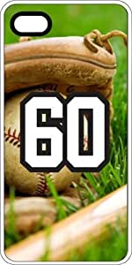 Baseball Sports Fan Player Number 60 White Rubber Decorative iPhone 6 PLUS Case