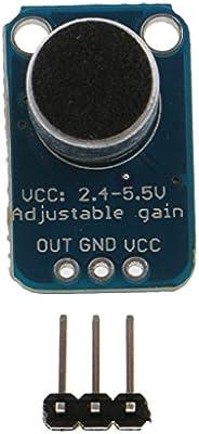 Amplificador de Micrófono Electret MAX4466 Ruptura Ganancia Ajustable