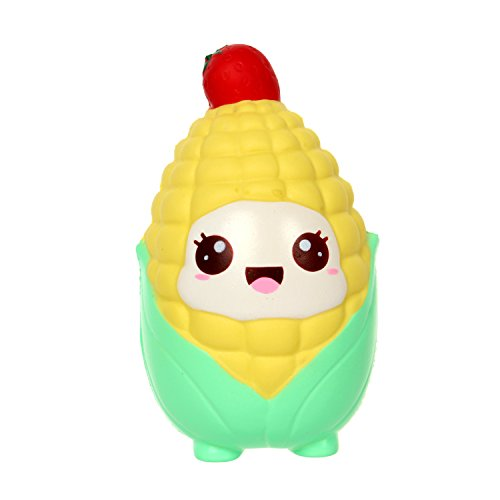 - TEEGOMO Kawaii Strawberry Head Corn Slow Rising Scented Jumbo Squishy Squeeze Squishies Toys and Gifts