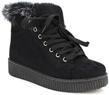 Cendriyon, Basket fourrée Noire DAYKANE Chaussures Femme