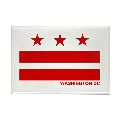 CafePress Washington DC Flag Rectangle Magnet Rectangle Magnet, 2