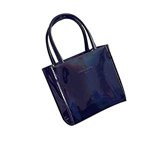 Handbag,Han Shi Fashion Women Shoulder Bag Modern Tote Ladies Purse Casual Party Bags (Black, M)