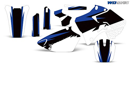 Wholesale Decals Yamaha YZ 125 250 1996-2001 with Rim Trim and Number Plates Midnight Race Design (Decals Trim Graphics)
