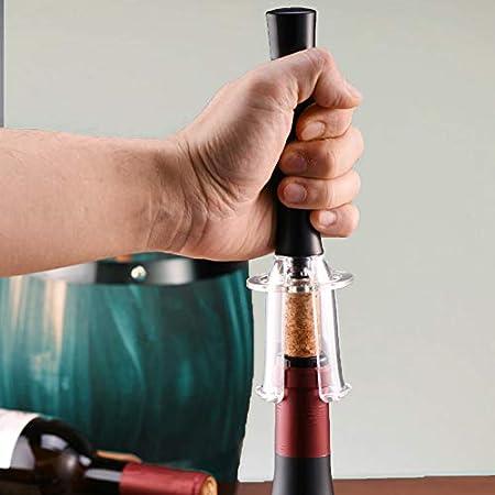 Set de 4 abrebotellas de vino Abrebotellas con bomba de presión de aire Bomba de vacío Wine cortador de papel de aluminio para Bar Home Kitchen