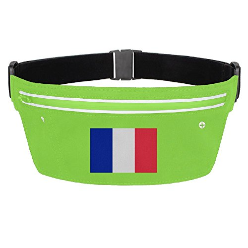 Waist Pack Bag France Flag Running Belt Ultrathin Hide Purse Adjustable Waterproof Outdoor