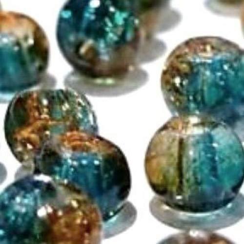 turchesi e marroni Perline in vetro crackl/é da 4 mm 200 pezzi articolo: A1429