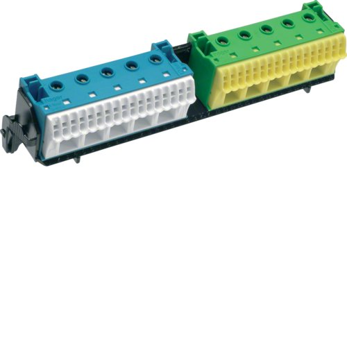 Hager FZ383 Trä ger m. 2x22 PE/N-terminals, QuickConnect