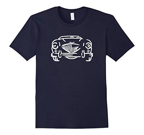 Men's Austin Healey 100 British English Sportscar Roadster T-shirt 2XL Navy