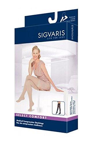 SIGVARIS Women's SELECT COMFORT 860 Closed-Toe Thigh-High Medical Hose 30-40mmHg