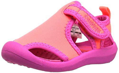 Review OshKosh B'Gosh Aquatic Girl's and Boy's Water Shoe, Pink/Coral, 10 M US Toddler