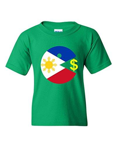 Eating Money Boxing Parody DT Youth Kids T-Shirt Tee (Small, Irish Green)