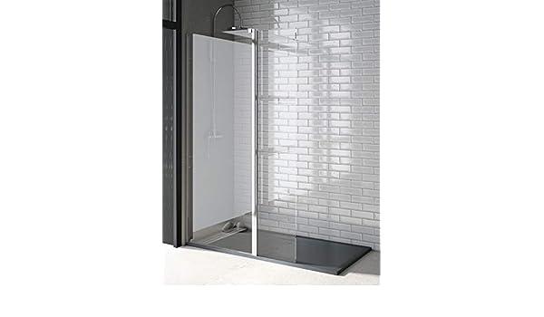 Mampara de ducha de 1 hoja fija + 1 hoja abatible - Cristal de Seguridad de 6 mm - Modelo TALA 2: Amazon.es: Bricolaje y herramientas