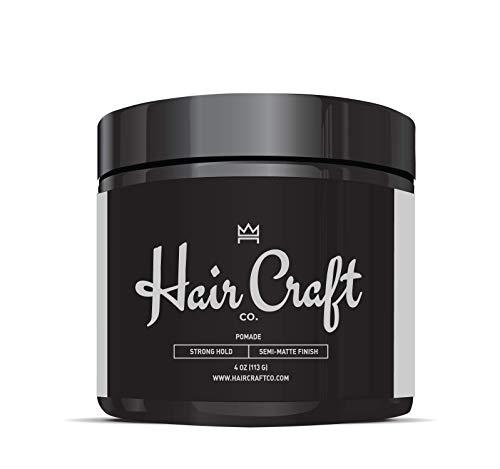 Hair Craft Co. Pomade 4oz - Best Semi-Matte Finish Shine - Original Hold Medium Strength (Gel) - Men