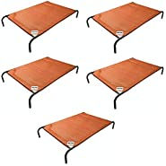 Gale Pacific Coolaroo Pet Bed, Elevated Pet Bed, Raised, Cooling, Washable, Indoor or Outdoor Dog Bed or Cat Bed, Medium (M), Terracotta