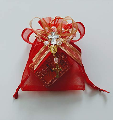 Dozen Red Organzas with Mini Bibles Party Favor for Confirmation
