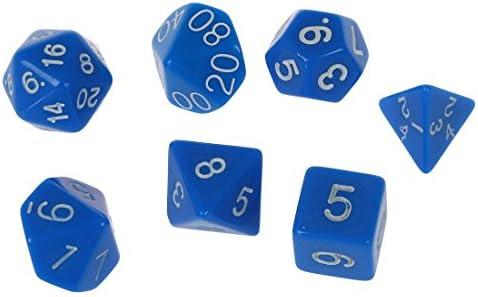 TOOGOO(R) Juego 7pzs Dado D4~D20 para Juegos Dungeons & Dragons RPG Dungeons y Dragons D & D azul: Amazon.es: Juguetes y juegos