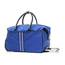 "Tommy Hilfiger Signature Solid 20"" Wheeled Duffle Rolling Duffel, Blue, One Size"