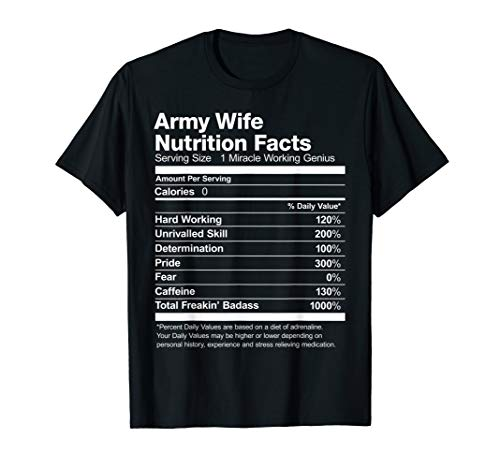 Army Wife Nutrition Facts Funny ()