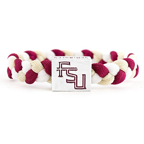 Glass-U NCAA Game Day Nylon Woven Bracelet - Florida State Seminoles