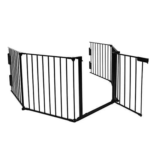 Generic Mental Fireplace Fence Baby Safety Gate Pet Gate