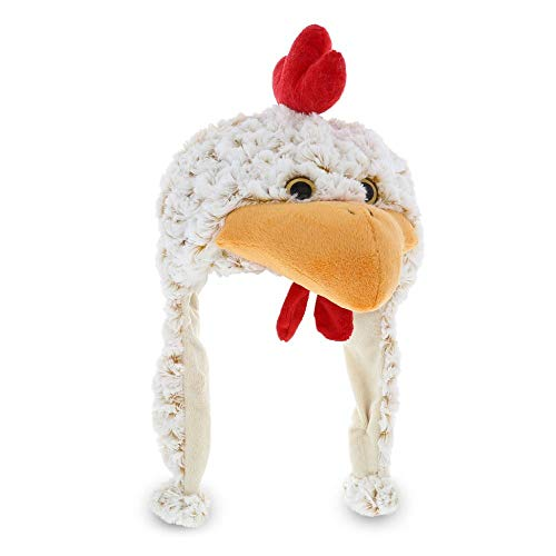 Dollibu Stuffed Animal Plush Soft Warm Fleece One Size Peruvian Hat - Rooster -