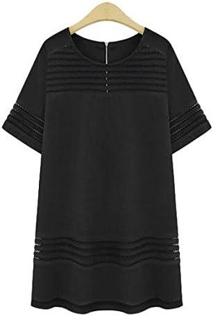 ZLL Cuello redondo corte vestidos y faldas de algodón de ropa de las mujeres de talla, falda delgada , xxl: Amazon.es: Deportes y aire libre