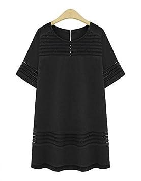 GDS Cuello redondo corte vestidos y faldas de algodón de ropa de ...