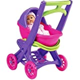 American Plastics On-the-Go Stroller Includes Removable cradle with seat that folds up to use as stroller