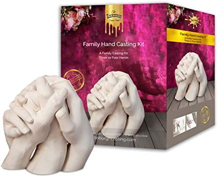 Edinburgh Family Hand Casting Kit for 4 - DIY Hand Casting Kits for Family, Family Hand Molding Casting Kit, Perfect for Family Gift Ideas and Family Vacation Gifts - Packaging May Vary