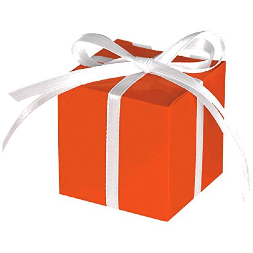 Classic Party Treat Boxes , Orange Peel, Paper , 2