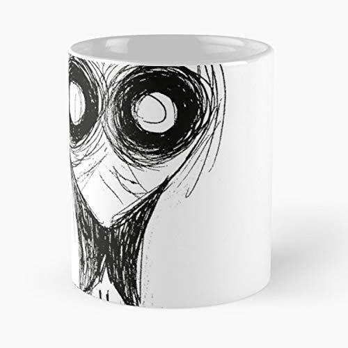 Alien Look White Black - Handmade Funny 11oz Mug Best Holidays Gifts For Men Women - Design Mug Planetary