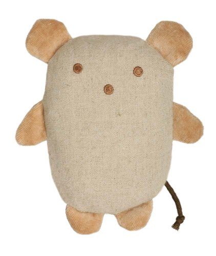 Simply Fido Organic Plush Hemp 6-Inch Pet Toy, Jeri Mouse