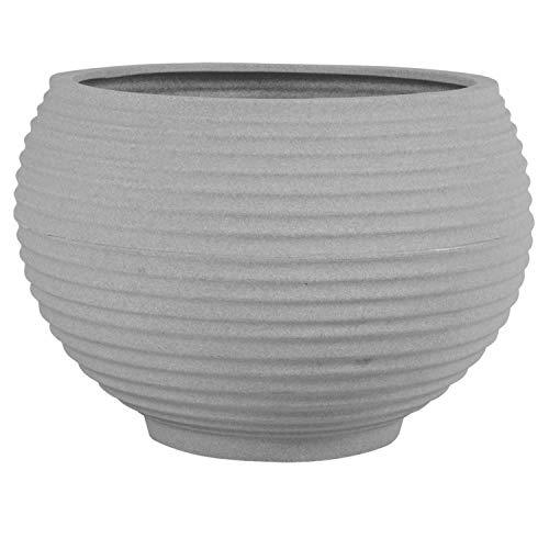 Vaso para Plantas Redondo em Polietileno 34 Esfera Latticce 27cmx23cm Japi Cimento