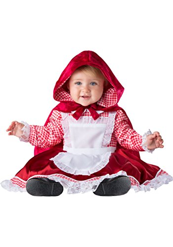 Fun World Baby Girls' Lil' Red Riding Hood, Red/White, (Red Riding Hood Costume Baby)
