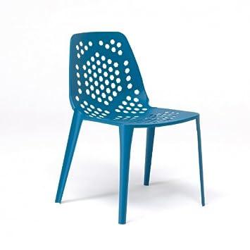 emu Pattern - Chaise de jardin empilable, bleu: Amazon.fr: Jardin