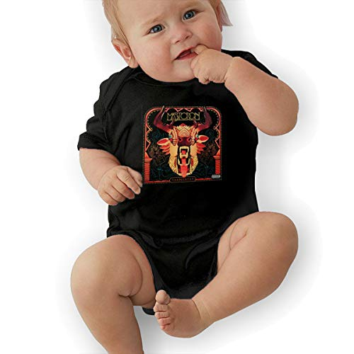 LuckyTagy Mastodon The Hunter Unisex Fashion Infant Romper Baby BoyPlay Suit 45 Black ()