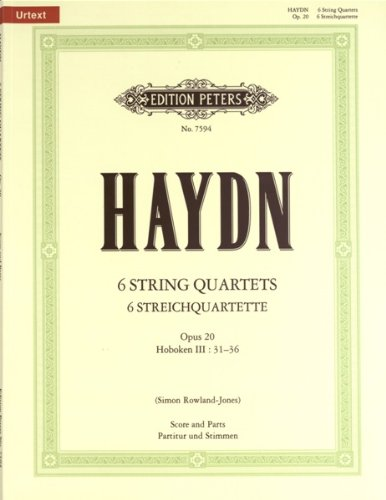 (Haydn: The 6 String Quartets Op.20, 31-36 (Full Score & Parts))