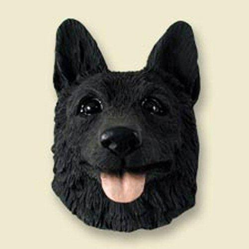 Conversation Concepts German Shepherd, Black Dog Head Magnet (2 in) ()