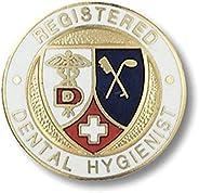 Prestige Medical Emblem Pin, Dental Hygienist, Registered