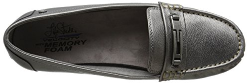 Lifestride Womens Viva Slip-on Peltro Mocassino