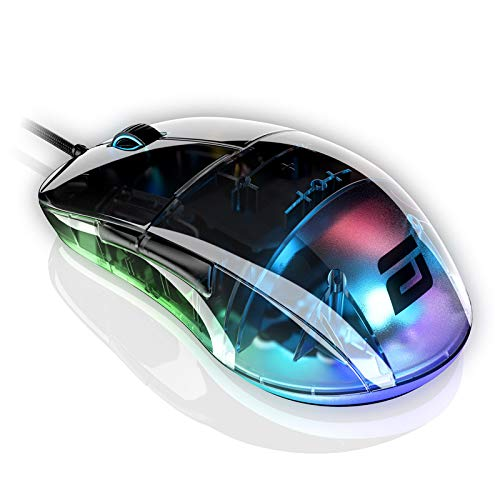 ENDGAME GEAR XM1 RGB Gaming Mouse - PMW3389 Sensor RGB Mouse Lighting 50 to 16,000 CPI Mouse with Side Buttons 60M Switches Wired Computer Mouse 2.75 oz Lightweight Gaming Mouse - Dark Reflex