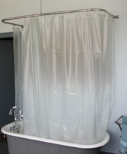 Extra Wide Vinyl Shower Curtain for a Clawfoot Tub/opaque with Magnets 180' X 70'