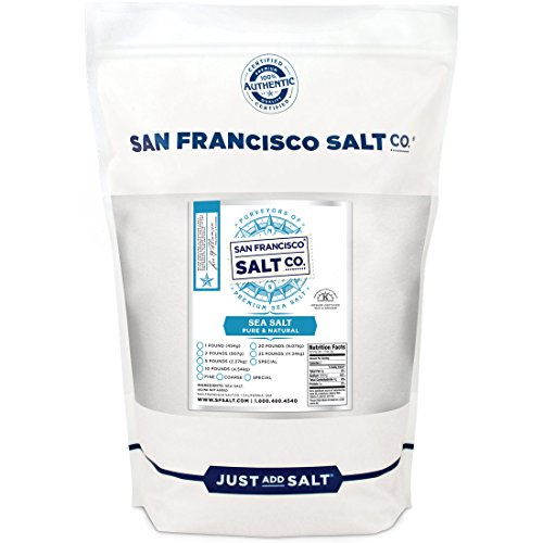 Pacific Ocean Gourmet Sea Salt Fine Grain 2 lbs. - Pure and natural sea salt Kosher Certified