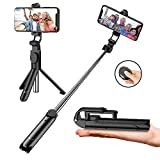 Extendable Selfie Stick Tripod with Detachable Wireless Remote and Tripod Stand Selfie Stick for iPhone X XS XR 8 Plus 7 Plus 6s Android Huawei P30 Pro Samsung S9/S8