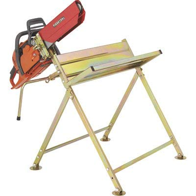 Ironton Sawhorse with Chainsaw Holder - Holds Logs to 6ft.L x 8.75in.Dia. 220-Lb. Capacity