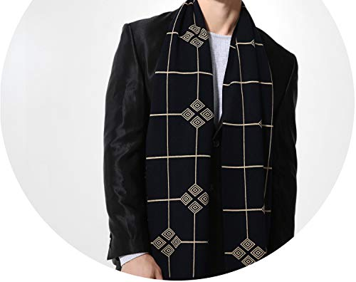 (Wool Plaid Scarf Man Winter Scarf Men Designer Shawl Bussiness Casual Scarves,Ma005-01,180Cm X 30Cm)