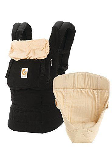 Ergobaby 3 Position Original Bundle Of Joy with Easy Snug Infant Insert - Black/Camel (Camel Ergo)